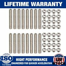 Stainless Exhaust Manifold Stud Kit Fits 2 manifolds Ford F150 V8 4.6/5.4L V8 US