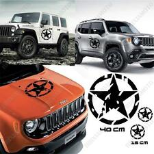 KIT 3 STICKERS STAR ARMY BODYWORK GRAPHIC LAND ROVER DEFENDER OFF ROAD BLACK