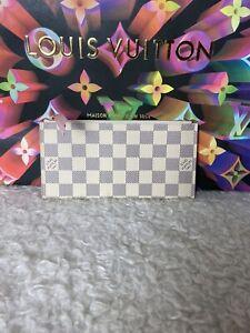 Authentic Louis Vuitton Felicie Insert Wallet Damier Azur Rose Ballerine Interio