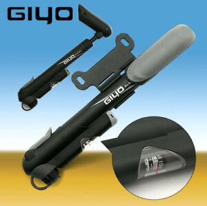 GIYO GP-43 Portable Bike Bicycle Mini Floor Pump With Gauge 100 psi Black
