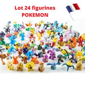 Lot 24 Figurines Pokemon Sans Double Dont Pikachu Idée Cadeau Enfant Collection