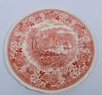 Villeroy Boch Burgenland Rot Tortenplatte 32 cm V&B Mettlach Keramik alte Serie