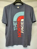 The North Face Logo T Shirt Gray Red White Light Blue Mens Size Large