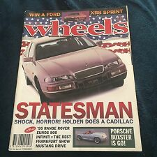 WHEELS MOTOR MAGAZINE. OCT 1993. STATESMAN