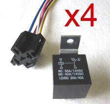 30/40 AMP 5 pin Relay with 5 wire Relay Socket Qty 4