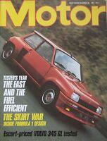 Motor magazine 28/11/1981 featuring Volvo road test