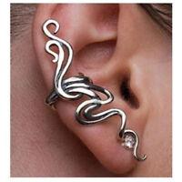 1PC Punk Vintage Rhinestone Wrap Ear Cuff Clip Pierced Stud Exaggeration Earring