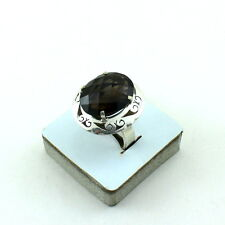 NATURAL SMOKY QUARTZ FACETED GEMSTONE  RINGS 10 GRAM  SIZE 8.5 US