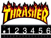 THRASHER SKATEBOARD STICKER Thrasher Skateboard Magazine Shred Or Die Fire Decal