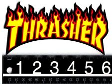 THRASHER SKATEBOARD STICKER Thrasher Skateboard Magazine Shred Or Die Fire Decal