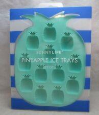 NEW SunnyLife set of 2 Pineapple Ice cube trays. Silicone