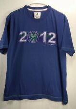 Authentic Wimbledon 2012 Championship Logo Mens Blue T-Shirt Sz.Large- (B)