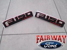 15 thru 18 F-150 OEM Ford Special Edition RED Fender Emblem Nameplate Set LARIAT