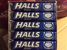 HALLS original flavour EXTRA STRONG 5 packs of 33.5g SUGAR FREE