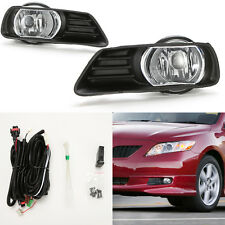 Clear Lens Driving Fog Lights For 2007-2009 Camry w/Bezel Switch Wiring Bulb Set
