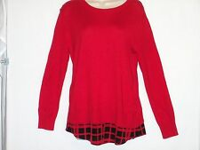 New with Tags MICHAEL KORS - Women's Long Sleeve Top, Size XS - Red Blaze $99.50