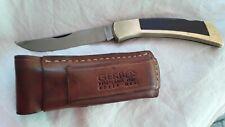 1972 Gerber V-Steel 97223 Portland, OR/Solingen Folding Knife w/Leather Sheath
