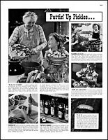 1938 Canning pickles Heinz grandmother girl boy dad vintage photo print ad adl89
