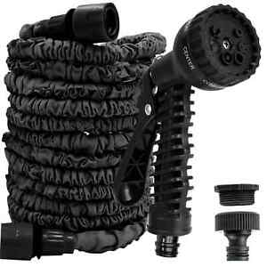 Expandable Garden Hose Pipe 50-200Ft Flexible Stretch Pipes With Water Spray Gun