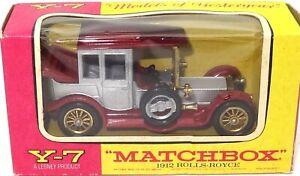 LESNEY MATCHBOX Y-7 1912 ROLLS ROYCE - A/MINT BOXED
