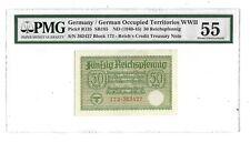 55 PMG 50 Reichspfennig 1940-45 Germany Occupied Territories Greece Banknote 135
