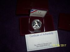 1992 U S Olympic Coin  Silver Commemorative Dollar
