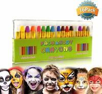 16 crayons peinture pour visage et de corps sûrs et non-toxiques Maquillage