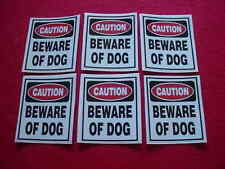 Home Security Beware of Dog Warning Decal Stickers for Windows or Doors