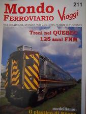 Mondo Ferroviario n°211 L - Treni nel QUEBEC - 125 anni FNM -