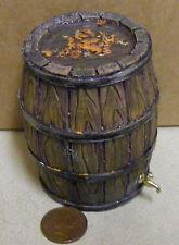 1:12 scale Barrel avec de l'eau & Métal Robinet tumdee Maison de Poupées Jardin Accessoire