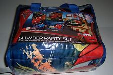 DISNEY CARS 2 SLUMBER PARTY SET SLUMBER SACK, PILLOW, & EYEMASK BRAND NEW!