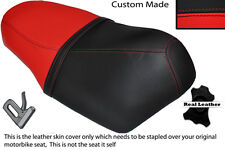 RED AND BLACK CUSTOM FITS SUZUKI AY 50 KATANA DUAL LEATHER SEAT COVER