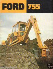Equipment Brochure - Ford - 755 - Tractor Loader Backhoe - c1970's (E1166)