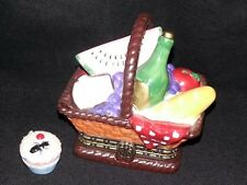 Collectible Cooking Club Of America Picnic Basket Trinket Box
