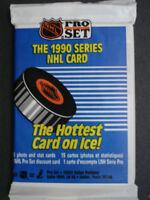 1990-91 Pro Set Hockey - 3 Packs Of Unopened Packs
