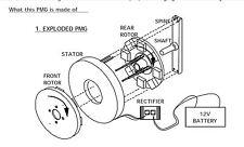 Manuale Alternatore Magneti Permanenti x generatore eolico idro elettrico Dinamo