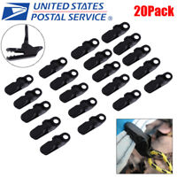 20 Pack Awning Clamp Set Tarp Clips Snap Hangers Survival Emergency Camping Tent