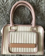 TED BAKER Women's PATENT LEATHER QUILTED SATCHEL Handbag Gold Hardware