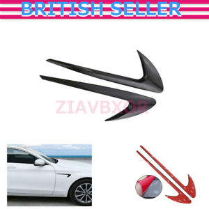 For Mercedes Benz C E S CLS Class Auto Sticker Side Air Vent Fender Cover Trims