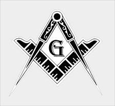 Flag Masonic Freemason Emblem Vinyl Laptop Car Helmet Decal 3M Graphics Sticker