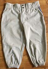 Mens Adult EVOSHIELD Baseball Short Pants, Large, Light Gray, New With Tags