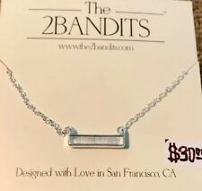 The 2bandits Athens Bar Necklace Iridescent Silver Tone Only1 Gr8pricecompar
