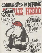 """CHARLIE HEBDO N°387 du 13/4/1978"" REISER : COMMUNISTES ""LA DEPRIME"""
