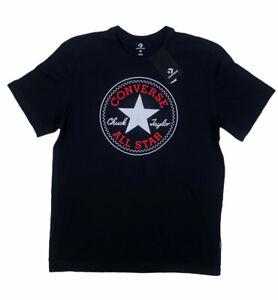 NEW Converse Chuck Taylor All Star Short Sleeve T Shirt Tee Black Red Mens Sz M