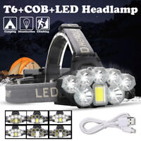 80000LM T6 8x LED Headlamp Rechargeable Head Light Flashlight Torch 18650  C