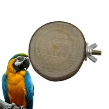 Wooden Parrot Bird Cage Stand Platform Perches Pet Toy Budgie Hamster 5-8cm WE9