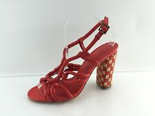 Tory Burch Women's Red Leather Sandals 7.5 M