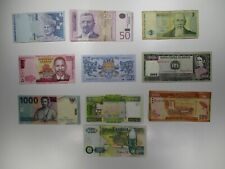 Assorted Set of 10 Mixed Foreign Banknotes World Paper Money Collections & Lots