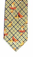 Grouse silk Neck tie mens shooting Gift