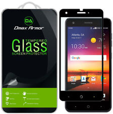 "Dmax Armor Full Cover Tempered Glass Screen Protector for ZTE ""Blade X"" (Black)"